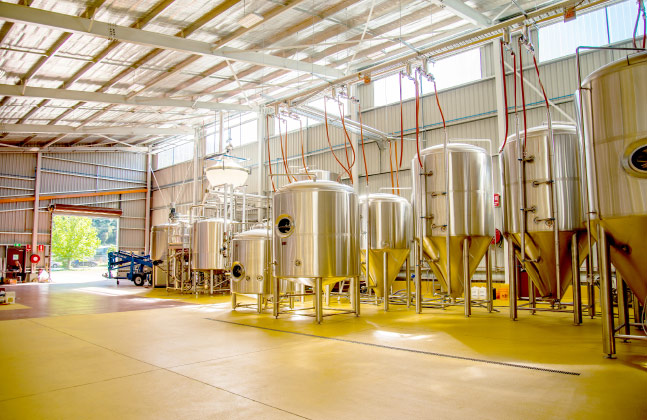 Bright Brewery Toasts New Facility with Antimicrobial Flooring