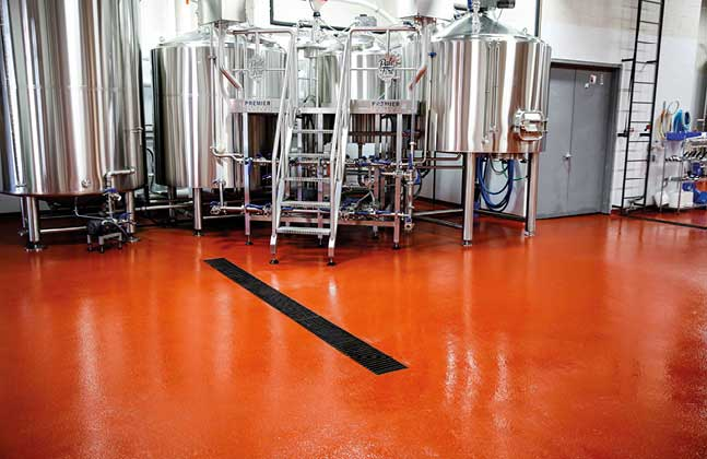 List chemical resistance is essential in breweries in order to maintain the facility's functionality and hygiene.