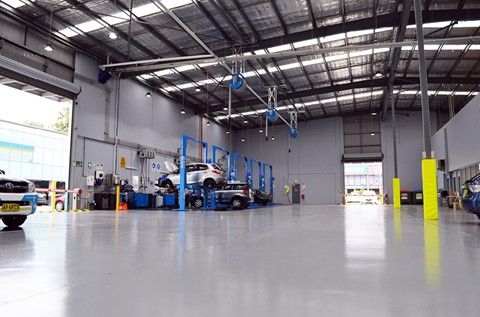NRMA MotorServe Workshops Won Over by Flowcoat