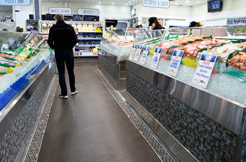 Flowcrete Supply Slip Resistant Surface for Sydney Seafood Shop