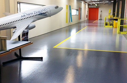 Flowcrete Australia at Air New Zealand, Auckland